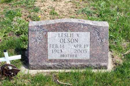 OLSON, LESLIE V. - Burt County, Nebraska | LESLIE V. OLSON - Nebraska Gravestone Photos