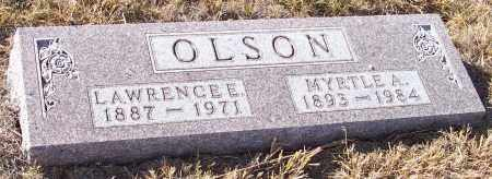 OLSON, MYRTLE A. - Burt County, Nebraska | MYRTLE A. OLSON - Nebraska Gravestone Photos