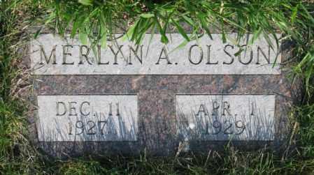 OLSON, MERLYN A. - Burt County, Nebraska   MERLYN A. OLSON - Nebraska Gravestone Photos