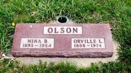 OLSON, NINA B. - Burt County, Nebraska | NINA B. OLSON - Nebraska Gravestone Photos