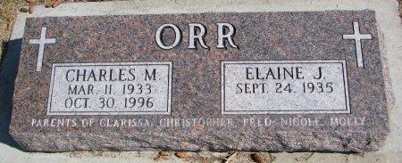 ORR, ELAINE J. - Burt County, Nebraska | ELAINE J. ORR - Nebraska Gravestone Photos