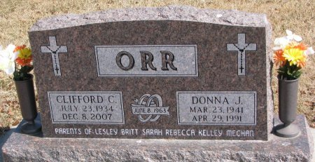 ORR, CLIFFORD C. - Burt County, Nebraska | CLIFFORD C. ORR - Nebraska Gravestone Photos