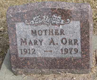 ORR, MARY A. - Burt County, Nebraska | MARY A. ORR - Nebraska Gravestone Photos
