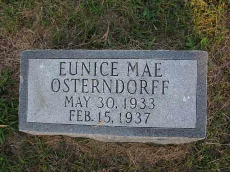 OSTERNDORFF, EUNICE MAE - Burt County, Nebraska | EUNICE MAE OSTERNDORFF - Nebraska Gravestone Photos