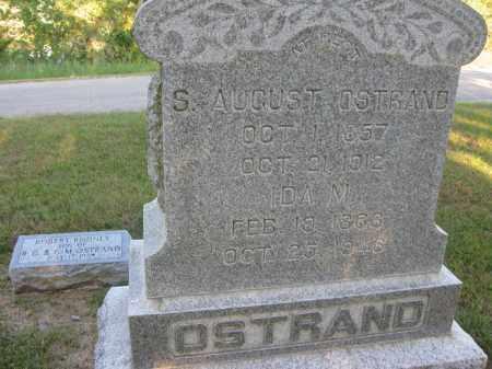 OSTRAND, S. AUGUST - Burt County, Nebraska   S. AUGUST OSTRAND - Nebraska Gravestone Photos