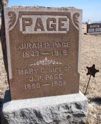 PAGE, MARY C. - Burt County, Nebraska | MARY C. PAGE - Nebraska Gravestone Photos