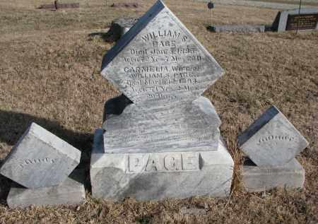 PAGE, WILLIAM S. - Burt County, Nebraska | WILLIAM S. PAGE - Nebraska Gravestone Photos