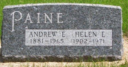 PAINE, ANDREW E. - Burt County, Nebraska   ANDREW E. PAINE - Nebraska Gravestone Photos