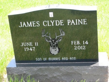 PAINE, JAMES CLYDE - Burt County, Nebraska | JAMES CLYDE PAINE - Nebraska Gravestone Photos