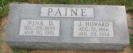 PAINE, J. HOWARD - Burt County, Nebraska | J. HOWARD PAINE - Nebraska Gravestone Photos