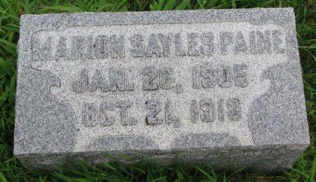 PAINE, MARION SAYLES - Burt County, Nebraska   MARION SAYLES PAINE - Nebraska Gravestone Photos