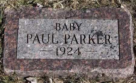 PARKER, PAUL - Burt County, Nebraska | PAUL PARKER - Nebraska Gravestone Photos