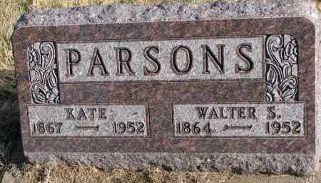 PARSONS, KATE - Burt County, Nebraska | KATE PARSONS - Nebraska Gravestone Photos