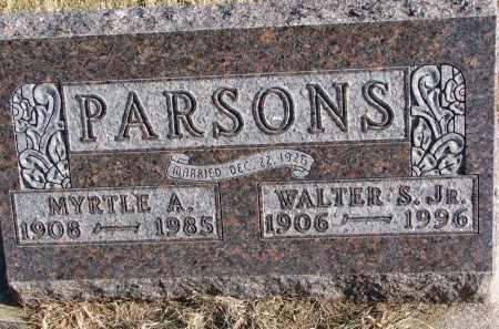 PARSONS, WALTER S. JR. - Burt County, Nebraska | WALTER S. JR. PARSONS - Nebraska Gravestone Photos