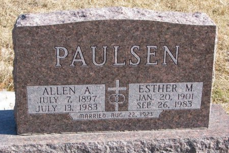 PAULSEN, ALLEN A. - Burt County, Nebraska | ALLEN A. PAULSEN - Nebraska Gravestone Photos