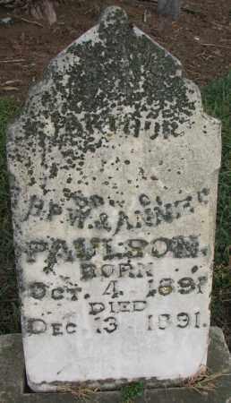PAULSON, ARTHUR - Burt County, Nebraska | ARTHUR PAULSON - Nebraska Gravestone Photos