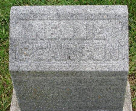 PEARSON, NELLIE (FOOT STONE) - Burt County, Nebraska | NELLIE (FOOT STONE) PEARSON - Nebraska Gravestone Photos