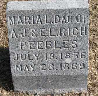 PEEBLES, MARIA L. - Burt County, Nebraska   MARIA L. PEEBLES - Nebraska Gravestone Photos