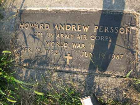 PERSSON, HOWARD ANDREW - Burt County, Nebraska | HOWARD ANDREW PERSSON - Nebraska Gravestone Photos