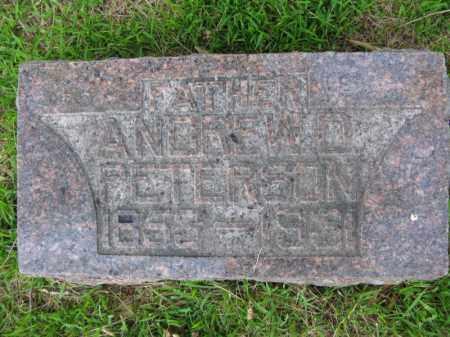 PETERSON, ANDREW D. - Burt County, Nebraska   ANDREW D. PETERSON - Nebraska Gravestone Photos