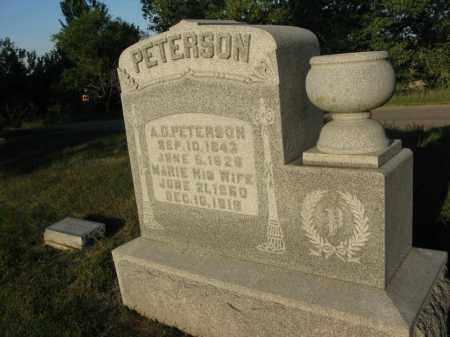 PETERSON, MARIE - Burt County, Nebraska | MARIE PETERSON - Nebraska Gravestone Photos