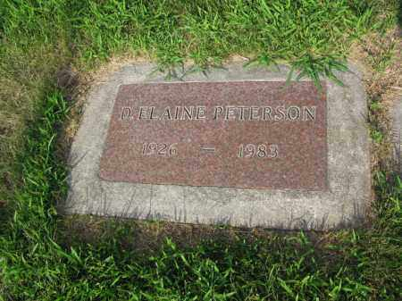 PETERSON, D. ELAINE - Burt County, Nebraska | D. ELAINE PETERSON - Nebraska Gravestone Photos