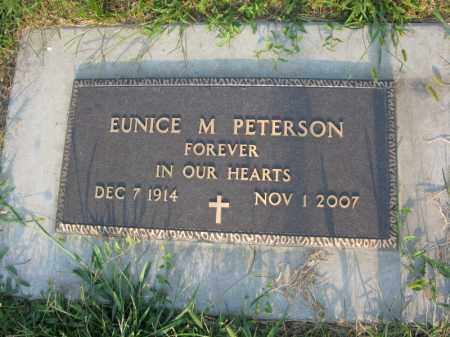 PETERSON, EUNICE M - Burt County, Nebraska | EUNICE M PETERSON - Nebraska Gravestone Photos