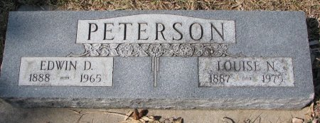 PETERSON, LOUISE N. - Burt County, Nebraska | LOUISE N. PETERSON - Nebraska Gravestone Photos