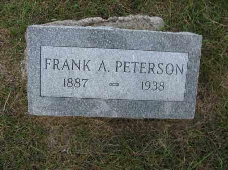 PETERSON, FRANK A. - Burt County, Nebraska | FRANK A. PETERSON - Nebraska Gravestone Photos