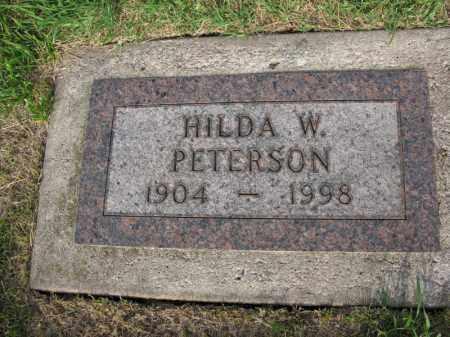 PETERSON, HILDA W. - Burt County, Nebraska | HILDA W. PETERSON - Nebraska Gravestone Photos
