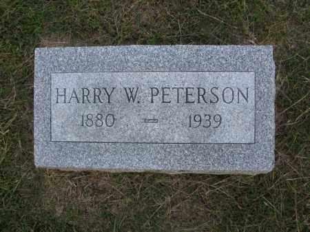 PETERSON, HARRY W. - Burt County, Nebraska | HARRY W. PETERSON - Nebraska Gravestone Photos