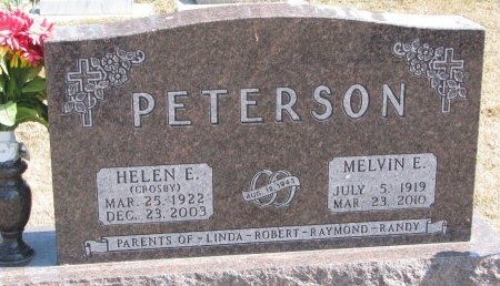 PETERSON, MELVIN ELMER - Burt County, Nebraska | MELVIN ELMER PETERSON - Nebraska Gravestone Photos