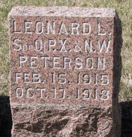 PETERSON, LEONARD L. - Burt County, Nebraska | LEONARD L. PETERSON - Nebraska Gravestone Photos