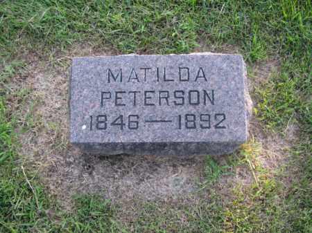 PETERSON, MATHILDA - Burt County, Nebraska | MATHILDA PETERSON - Nebraska Gravestone Photos