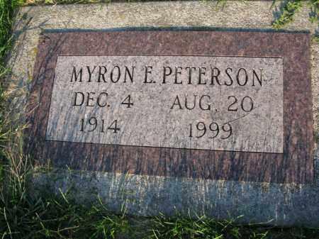 PETERSON, MYRON E. - Burt County, Nebraska | MYRON E. PETERSON - Nebraska Gravestone Photos