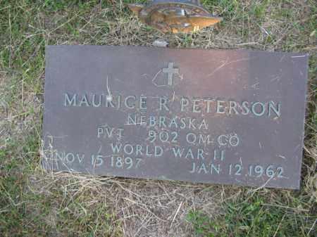 PETERSON, MAURICE R. - Burt County, Nebraska | MAURICE R. PETERSON - Nebraska Gravestone Photos