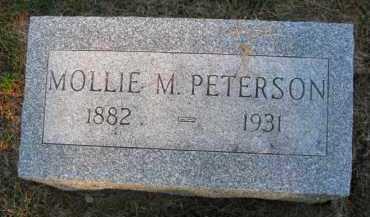 PETERSON, MOLLIE M. - Burt County, Nebraska | MOLLIE M. PETERSON - Nebraska Gravestone Photos