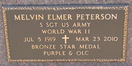 PETERSON, MELVIN ELMER (MILITARY) - Burt County, Nebraska | MELVIN ELMER (MILITARY) PETERSON - Nebraska Gravestone Photos