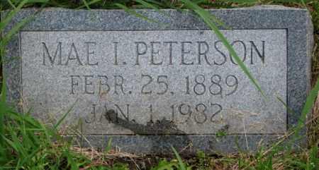 PETERSON, MAE I. - Burt County, Nebraska | MAE I. PETERSON - Nebraska Gravestone Photos