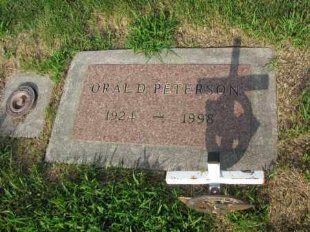 PETERSON, ORAL D. - Burt County, Nebraska   ORAL D. PETERSON - Nebraska Gravestone Photos