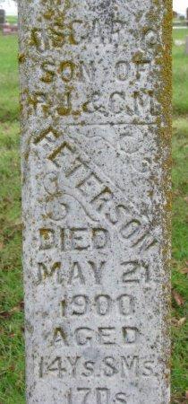 PETERSON, OSCAR (CLOSE UP) - Burt County, Nebraska | OSCAR (CLOSE UP) PETERSON - Nebraska Gravestone Photos