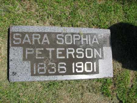 PETERSON, SARA SOPHIA - Burt County, Nebraska | SARA SOPHIA PETERSON - Nebraska Gravestone Photos