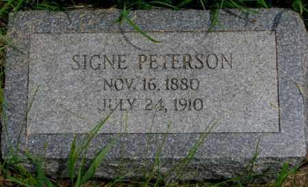 PETERSON, SIGNE - Burt County, Nebraska | SIGNE PETERSON - Nebraska Gravestone Photos