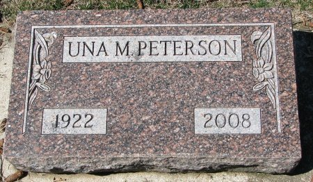 PETERSON, UNA M. - Burt County, Nebraska | UNA M. PETERSON - Nebraska Gravestone Photos