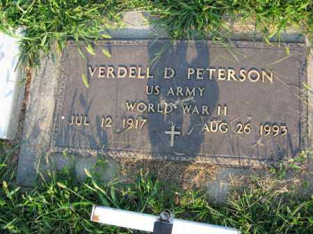 PETERSON, VERDELL D. (MILITARY MARKER) - Burt County, Nebraska | VERDELL D. (MILITARY MARKER) PETERSON - Nebraska Gravestone Photos