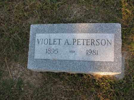 PETERSON, VIOLET A. - Burt County, Nebraska   VIOLET A. PETERSON - Nebraska Gravestone Photos