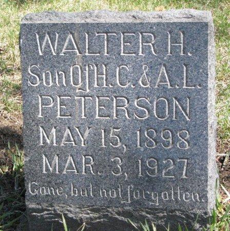 PETERSON, WALTER H. - Burt County, Nebraska | WALTER H. PETERSON - Nebraska Gravestone Photos