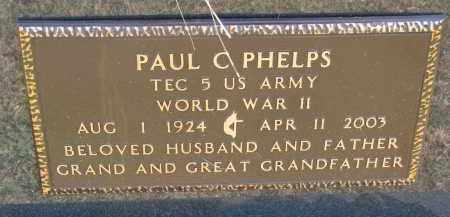 PHELPS, PAUL C. (WW II) - Burt County, Nebraska | PAUL C. (WW II) PHELPS - Nebraska Gravestone Photos