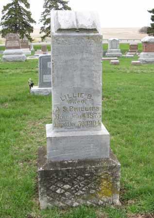 PHILLIPS, LILLIE B. - Burt County, Nebraska | LILLIE B. PHILLIPS - Nebraska Gravestone Photos