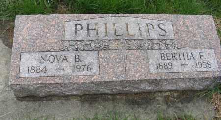 PHILLIPS, BERTHA E. - Burt County, Nebraska   BERTHA E. PHILLIPS - Nebraska Gravestone Photos